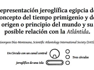 Representación jeroglífica egipcia del concepto del tiempo primigenio y del origen o principio del mundo y su posible relación con la Atlántida.