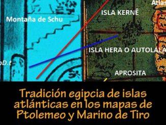 Tradición egipcia de islas atlánticas en los mapas de Ptolemeo y Marino de Tiro, por Georgeos Díaz-Montexano.