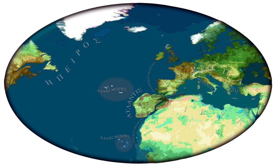 Ubicación geográfica de la Atlántida.