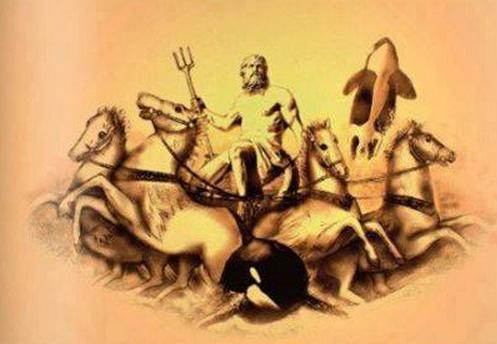 Poseidón, dios de los mares, por Monik Perz, 2009