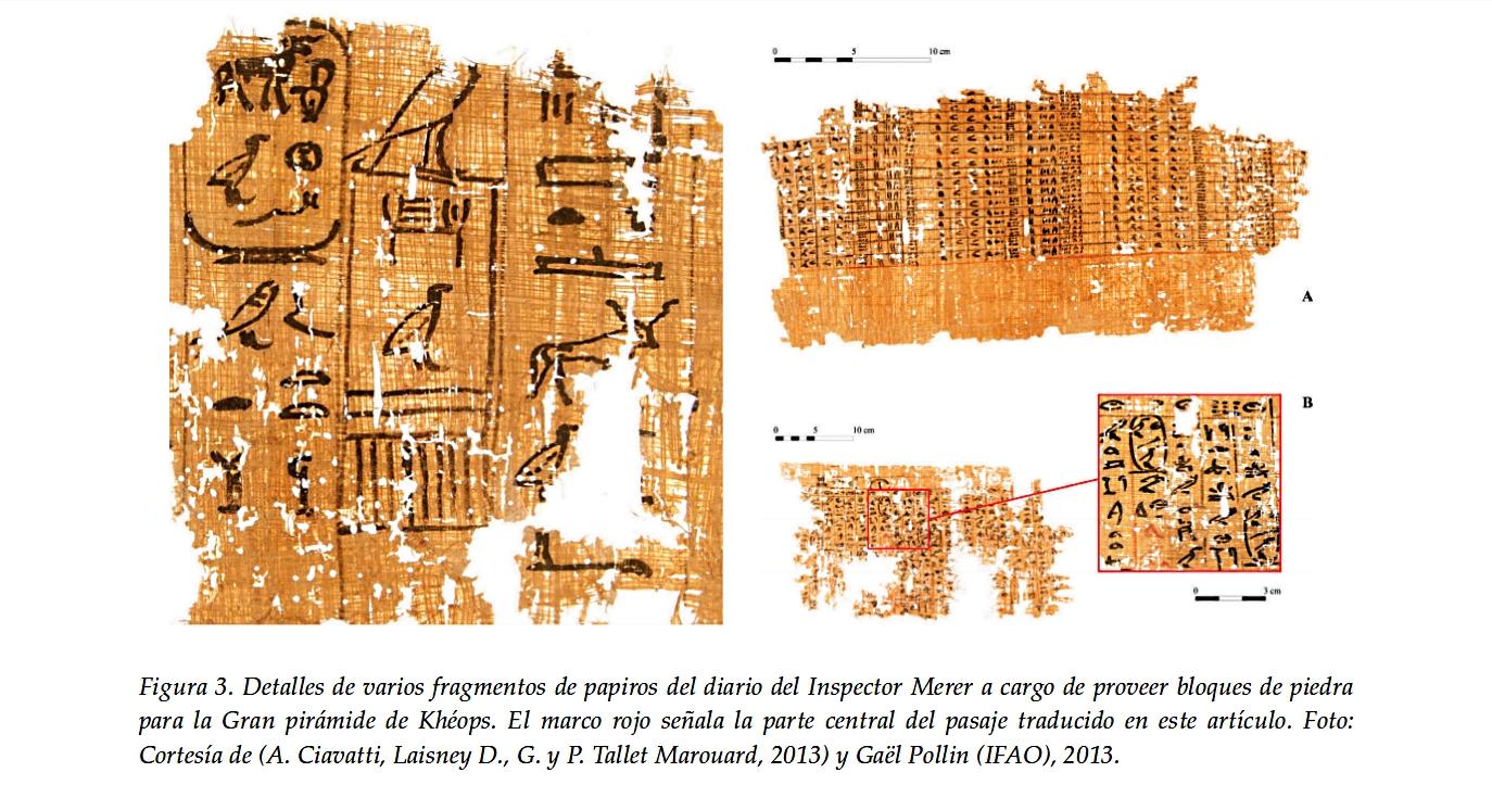 El diario de un inspector de obras del rey Khéops y la construcción de la Gran Pirámide.