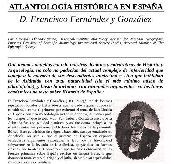 Atlantología histórica en España – D. Francisco Fernández y González.