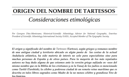 Origen del nombre de Tartessos. Consideraciones etimológicas.