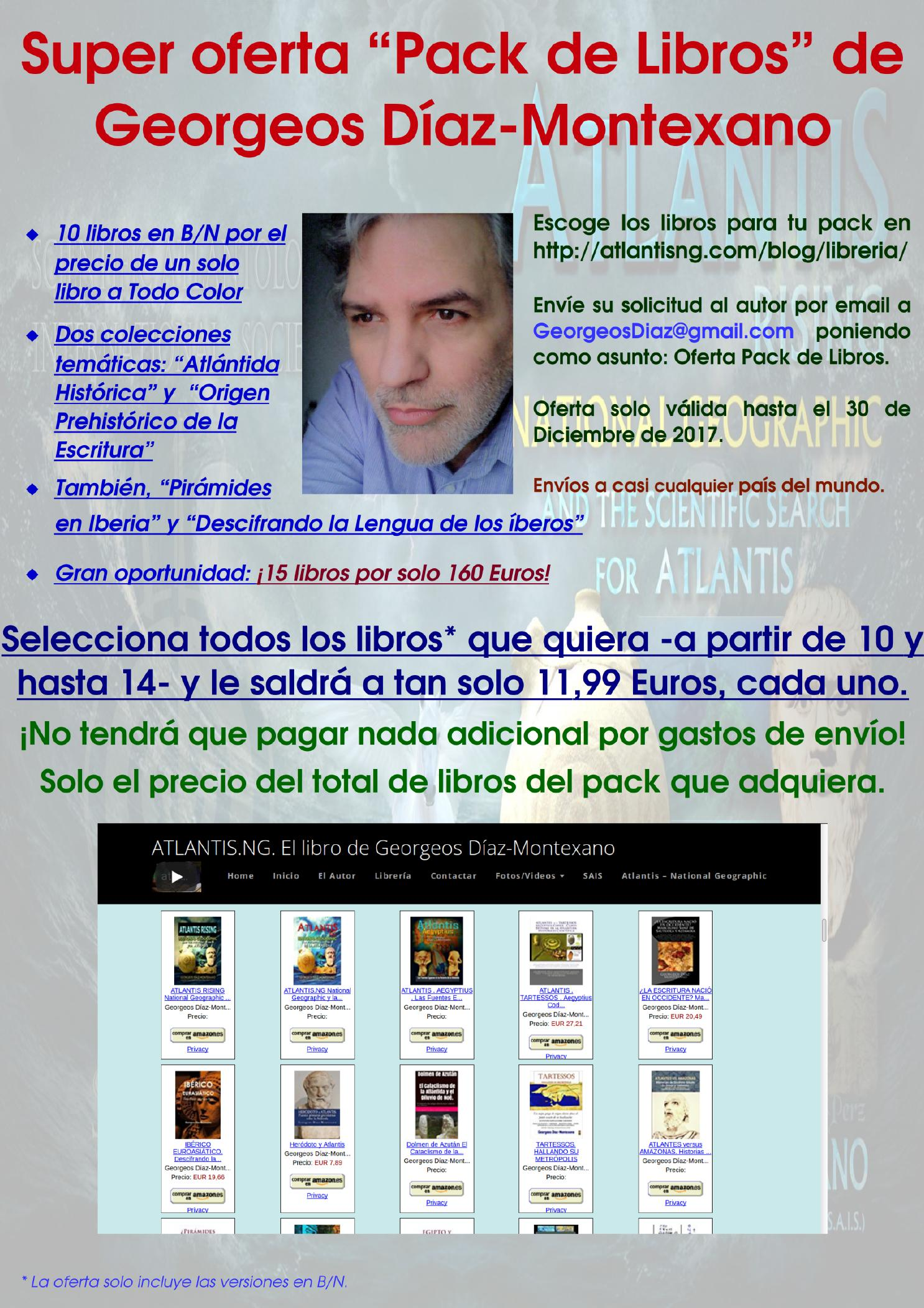 """Super oferta """"Pack de Libros"""" de Georgeos Díaz-Montexano."""