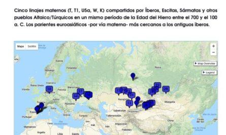 La genómica confirma antiguas crónicas hispano-visigodas sobre la procedencia asiática (escitas, sármatas y altaico/túrquicos) de algunos pueblos de Iberia.