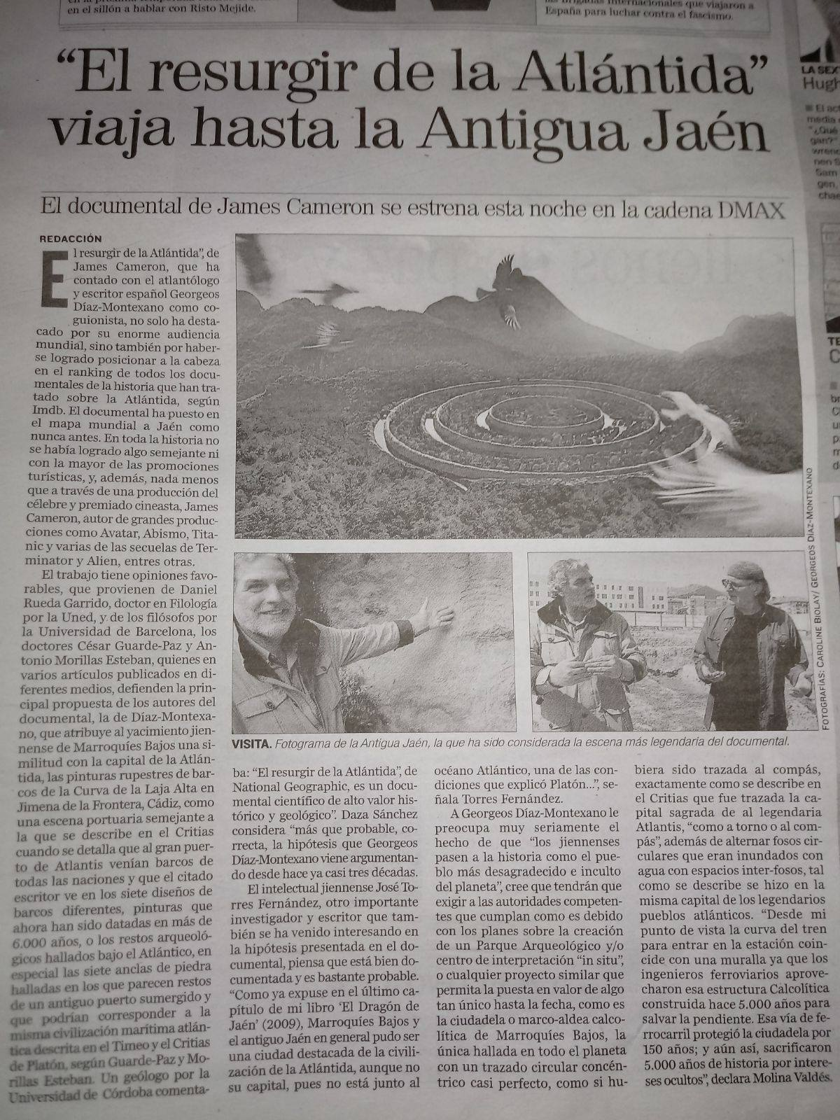 Edición resumida impresa en Diario Jaén / 10/04/2018