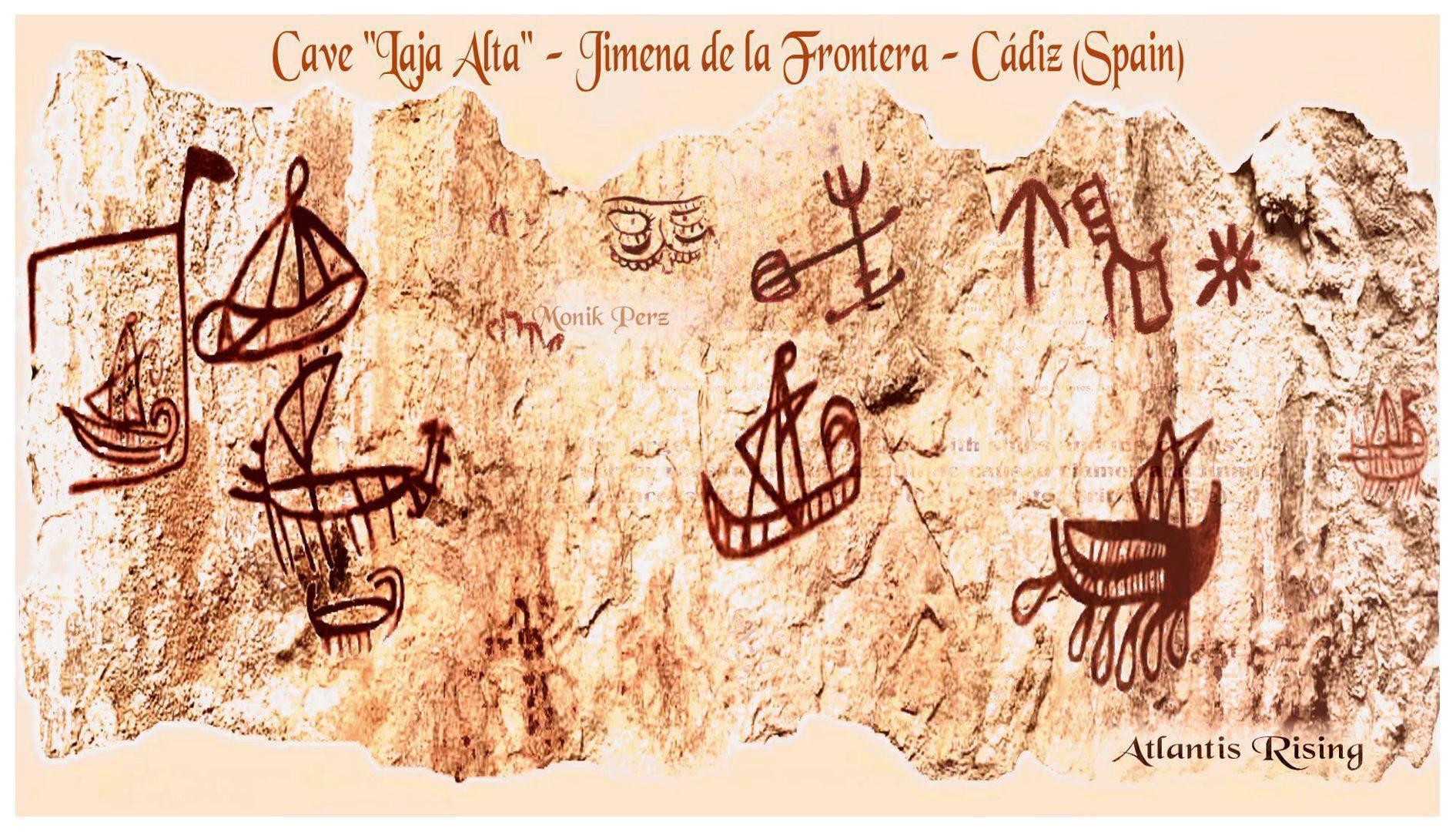 "Cave ""Laja Alta"" - Jimena de la Frontera - Cádiz (Spain) 2016 - calcos fidedignos realizados para Georgeos Díaz Montexano y documental de National Geographic, 2016, ""Atlantis Rising""."