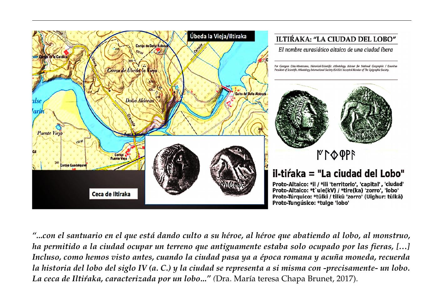 "iltiŕaka: ""La ciudad del lobo"" El legendario nombre eurasiático altaico de una ciudad íbera Por Georgeos Díaz-Montexano, Historical-Scientific Atlantology Adviser for National Geographic / Emeritus President of Scientific Atlantology International Society (SAIS) / Accepted Member of The Epigraphic Society."