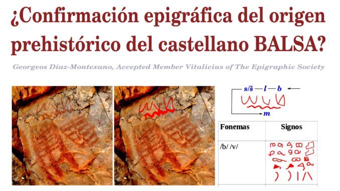 ¿Confirmación epigráfica del origen prehistórico del hispánico BALSA?