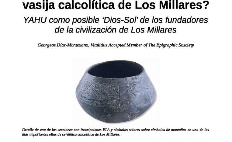 ¿El dios afrasiático YAHU en una vasija calcolítica de Los Millares?