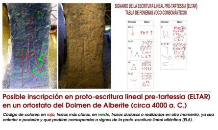 Reveladora evidencia epigráfica en el Dolmen de Alberite (Cádiz) que podría tener entre 6000 y 5000 años.