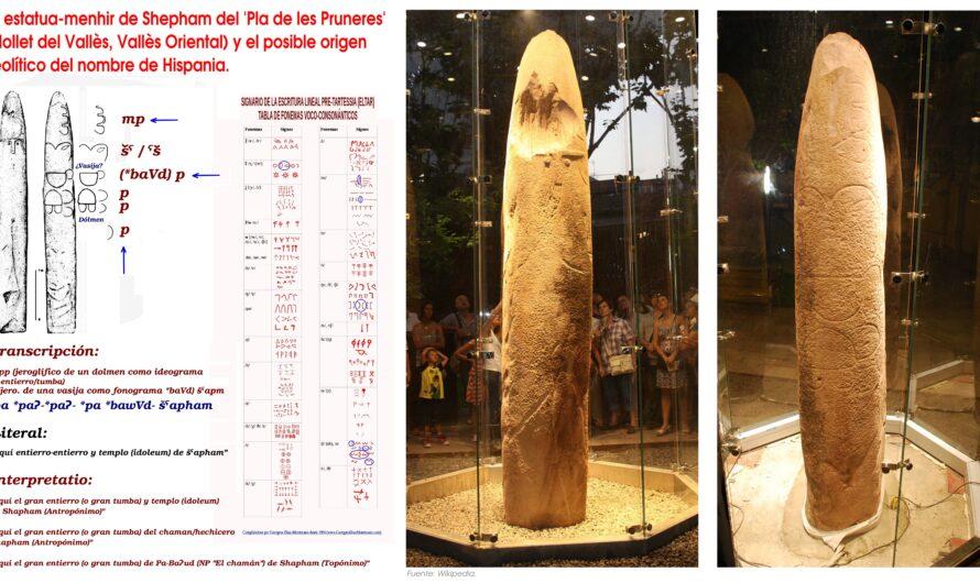 La estatua-menhir de Shepham del 'Pla de les Pruneres' (Mollet del Vallès, Vallès Oriental) y el posible origen neolítico del nombre de Hispania.