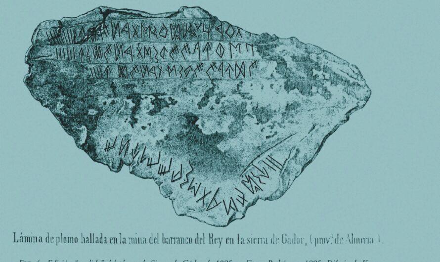 """Análisis epigráfico-lingüístico del """"Plomo de Urci"""" (""""Plomo de Gádor) hallado en el 'Barranco del Rey' de Sierra Alhamilla (Pechina, Almería)."""