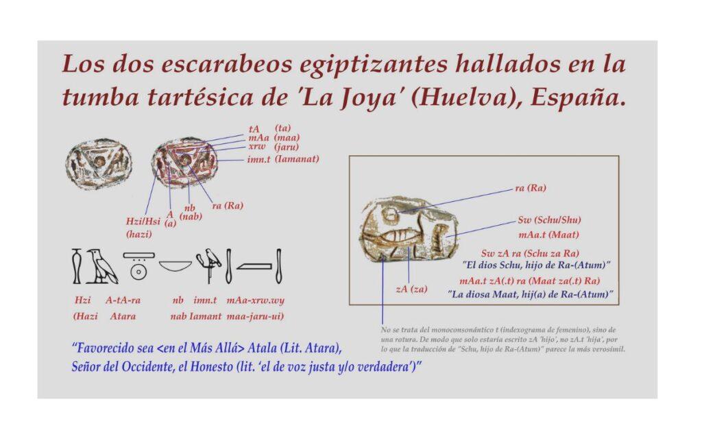 """¿Un escarabeo tartésico-egipcio para el príncipe o rey """"Atala"""" de la Tumba de 'La Joya', Huelva?."""