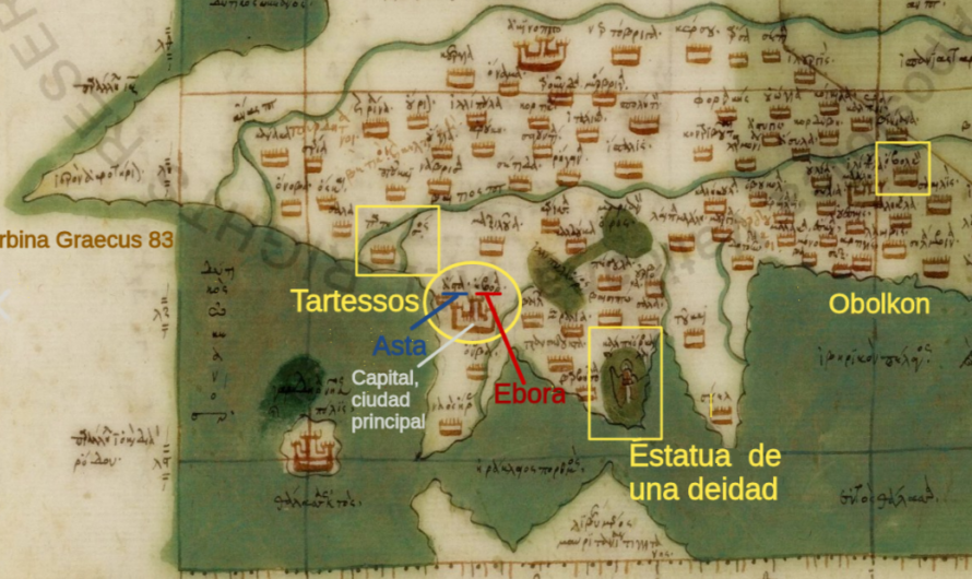El descubrimiento de Tartessos en otros tres mapas en griego bizantino de la tradición cartográfica de Marino de Tiro.